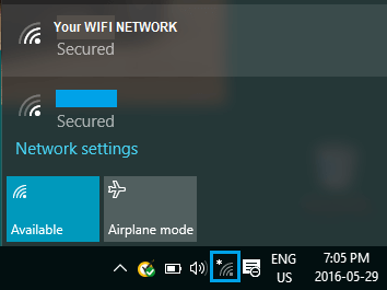 Step 6 Click WiFi Icon in the Windows Taskbar