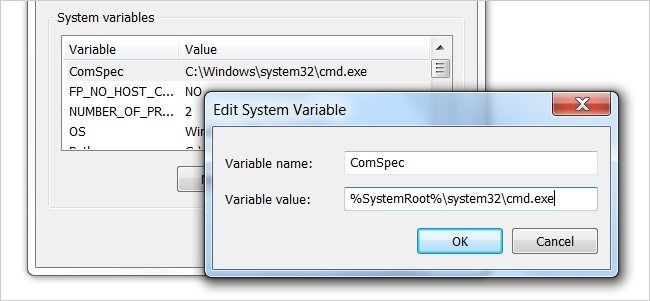 Step 1 to Change Environment Variables is to create new variable