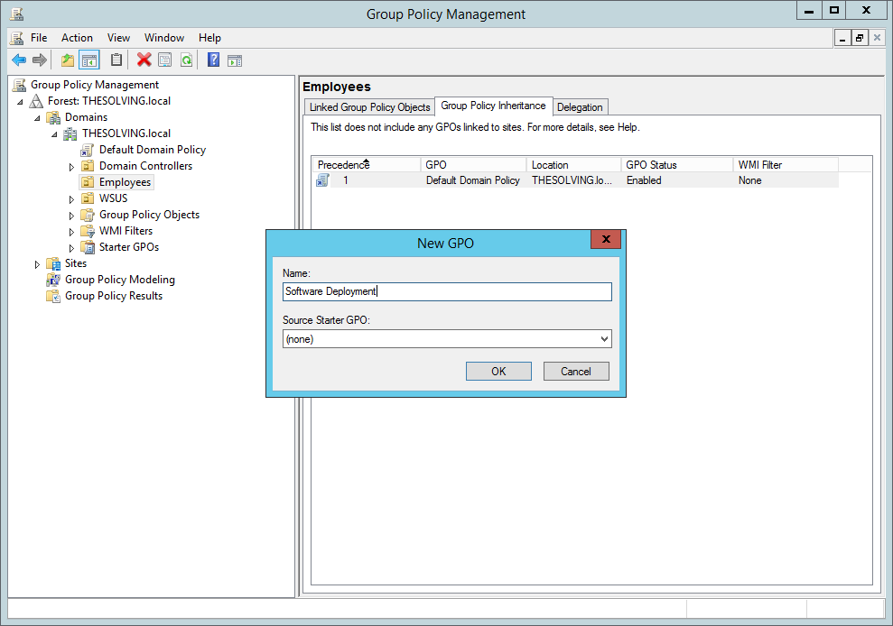 Step 2 to deploy software gpo is to Name the object to be created