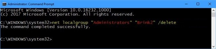 Open an elevated command prompt