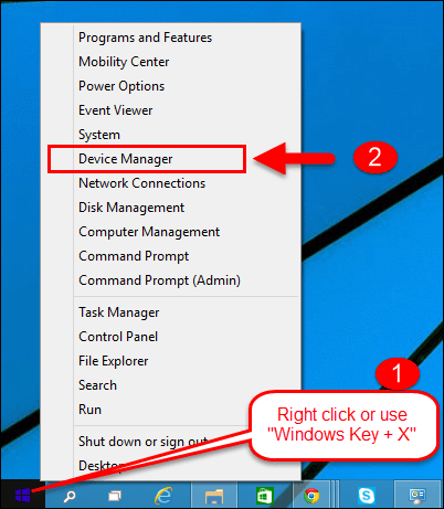 First step to Disable Usb Drives is to right-click on the Start button on the taskbar and select Device Manager
