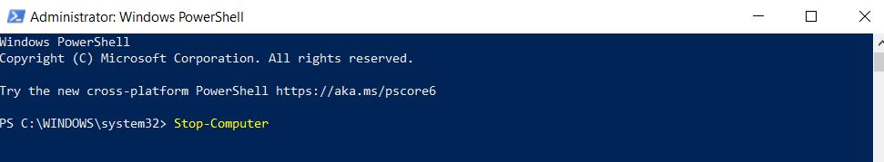 Shutdown Remote Computers via PowerShell