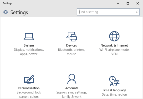 Step 1 to Reset the network settings is to open Start - Settings