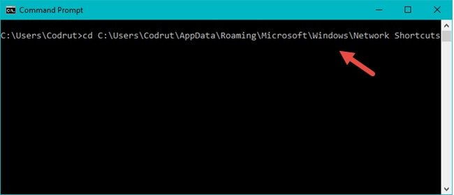 Use the Command Prompt to Remove a Network Location Mapping from Your Pc by Erasing Its Shortcut