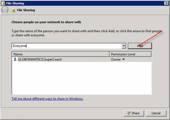 Step 3 to auto install exe file with GPO is to add read access