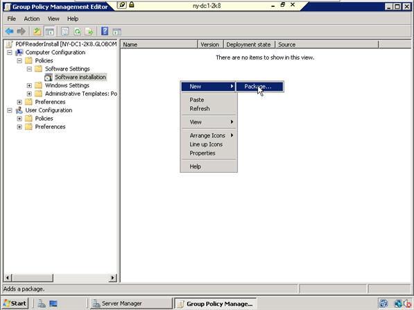 install apps via GPO
