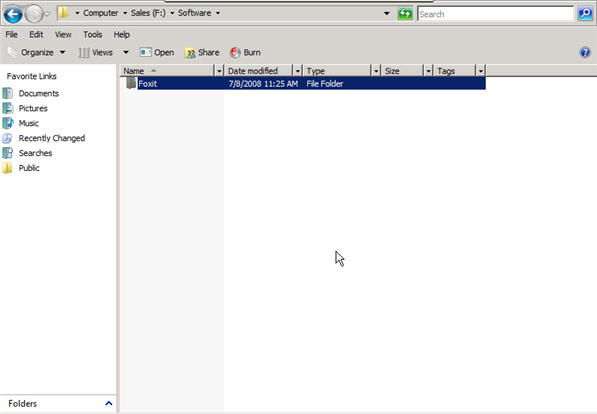 Step 6 to auto install exe file with GPO is to create a new folder
