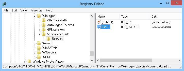 new parameter user1