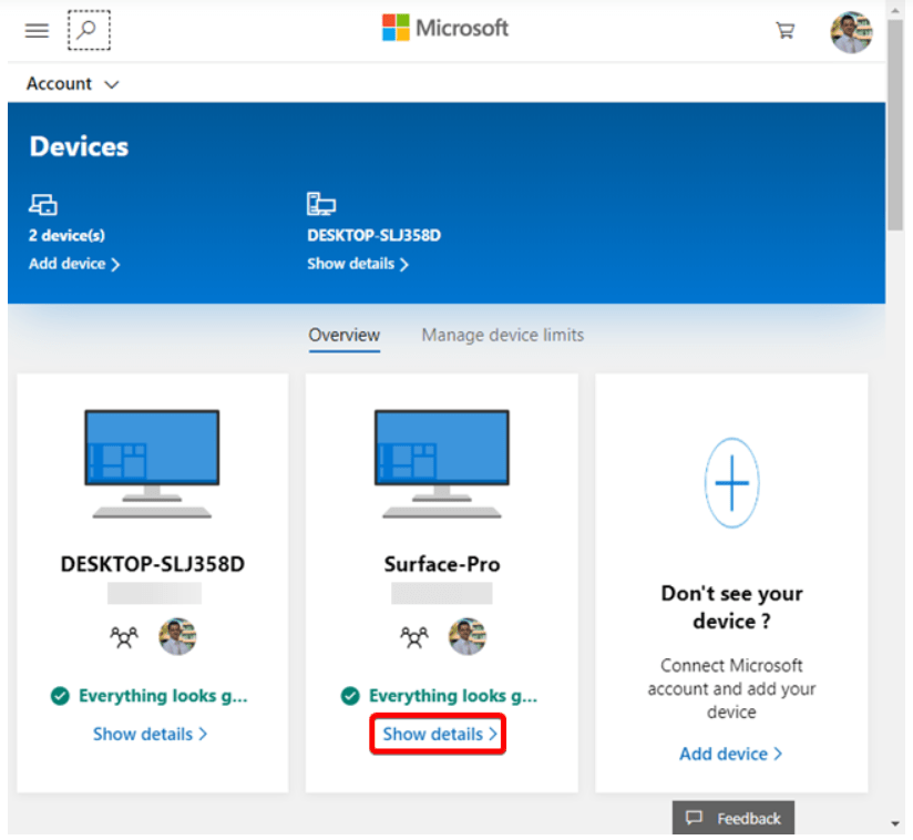 The next Step to Lock Remote Computer is to show details of devices