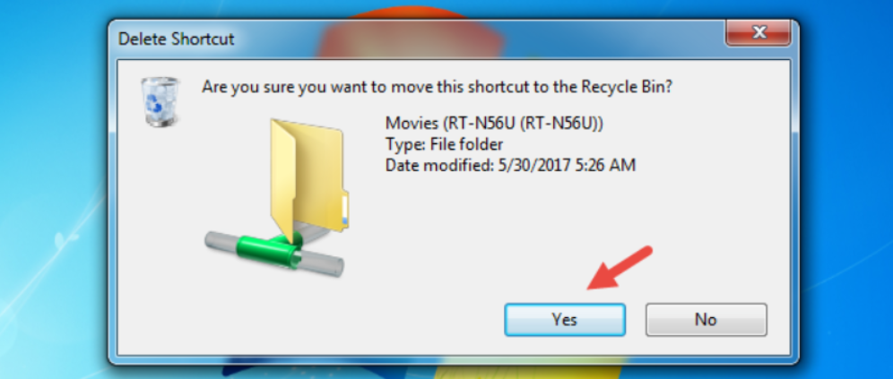 Next Step to Remove Drive Mapping is to Confirm that you want to remove the selected item(s)