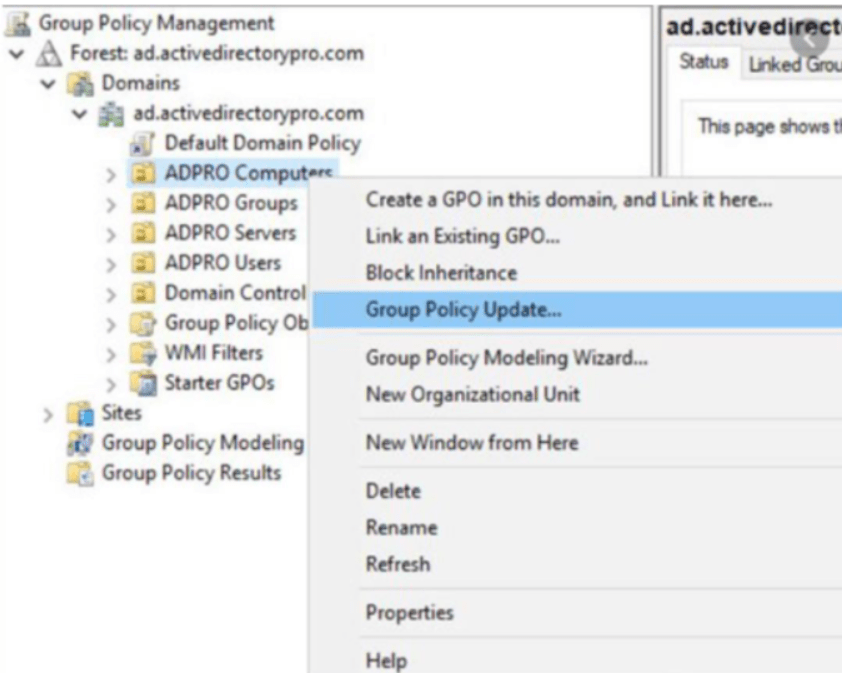 Group Policy Update