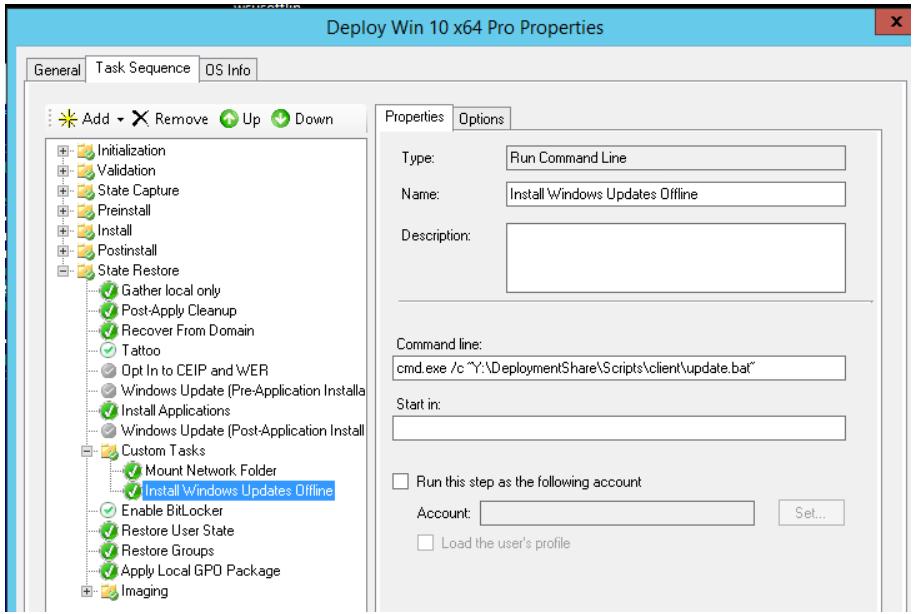 Install Windows Updates Offline task