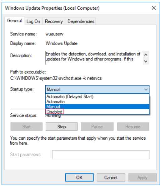 Step 10 Stop Windows Update Service
