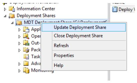 Update Deployment Share