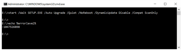 Upgrade Windows 10 Build from the Command Line. Compatibility Check command
