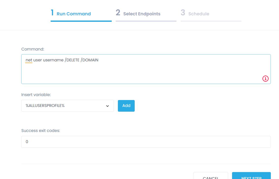 delete a domain user profile