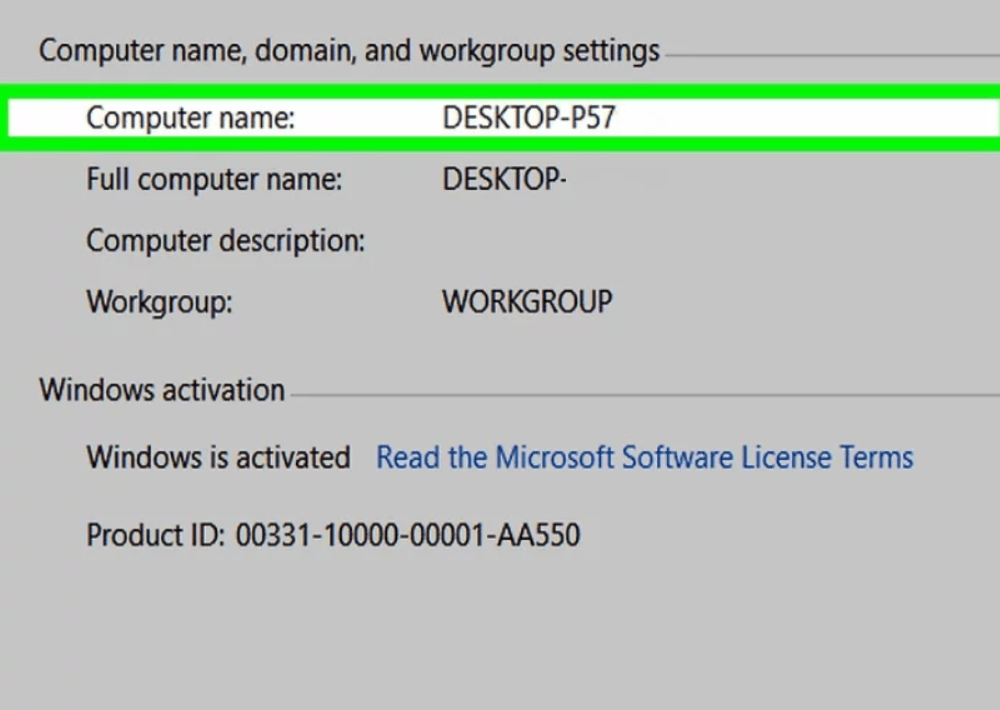 find the  computer name remotely action1 rmm