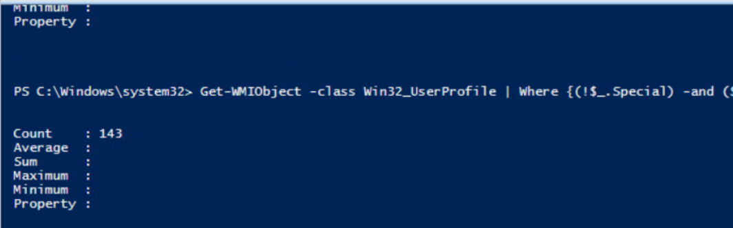 inactive user profiles on the terminal server
