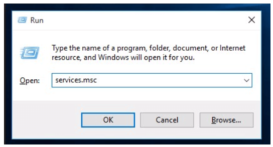 Step 9 to fix trouble when Microsoft Windows Updates not working Is to Open services