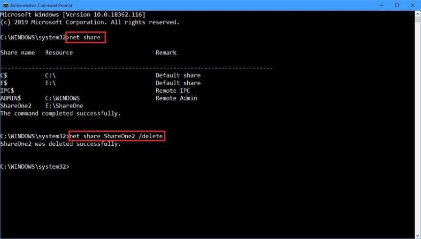 net share delete