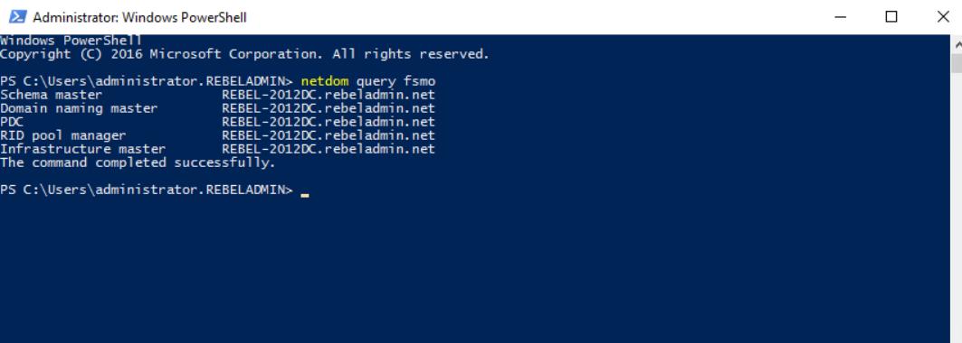 NTP via Powershell. Use netdom query FSMO