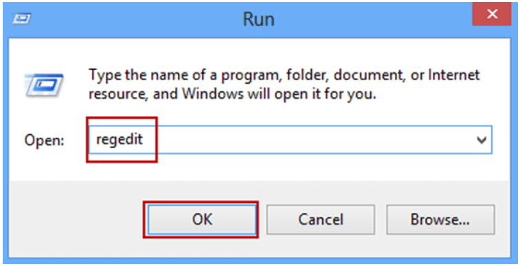First step to Remove Startup Program is to open regedit