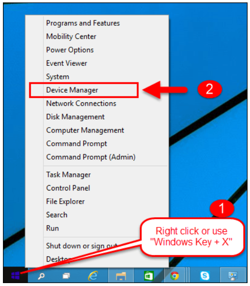 start Device Manager