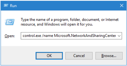 Open Adapter Settings