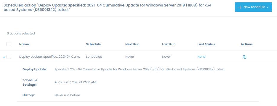 Scheduled updated deployment