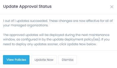 Update approval window