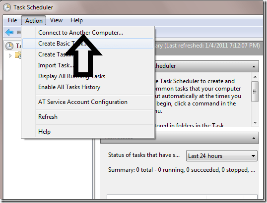 Step 2 to Create Scheduled Task Remotely is to Connect to Another Computer