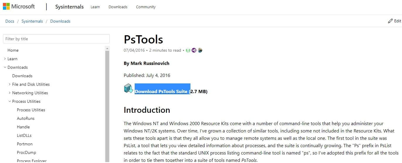 Download PsTools