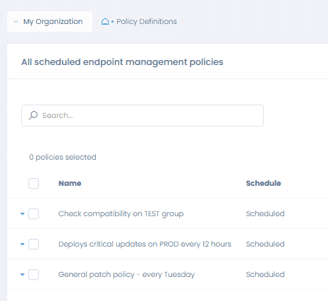 how to make updates install automatically with action1 patch management policies