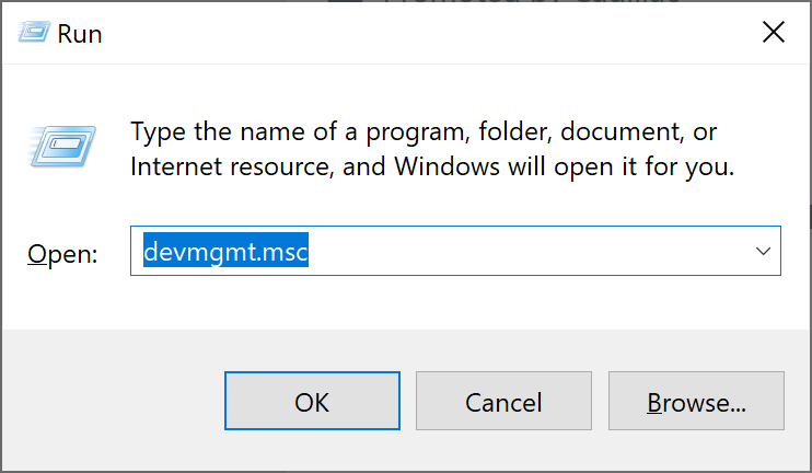 To Disable or Enable the Network Adapter is to open devmgmt