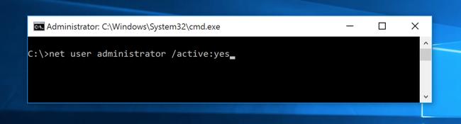net user administrator active