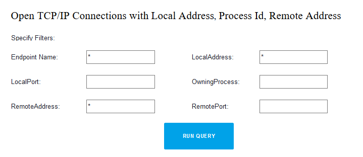 How to get a list of active TCP connections on all domain computers with help of WMI query or Powershell script and save a list tcp connections in CSV file - set filters